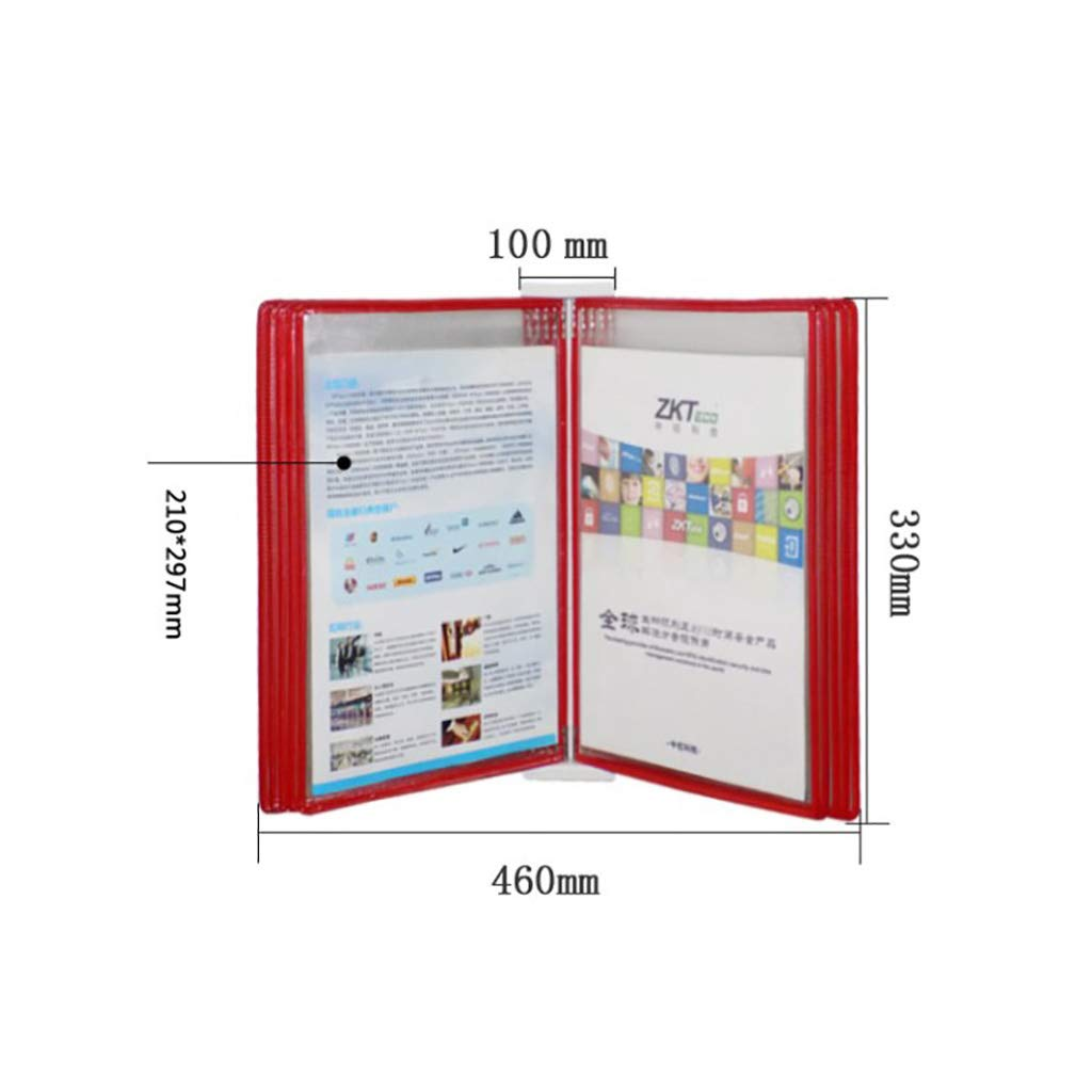Flip File Holder, Wall-Mounted Magnetic Display (PVC+Metal) 332310CM (Color : C)