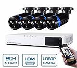GOWE Security Camera System 8ch CCTV System 4 x 1080P CCTV Camera 2.0MP Camera Surveillance System Kit Camaras Seguridad Home