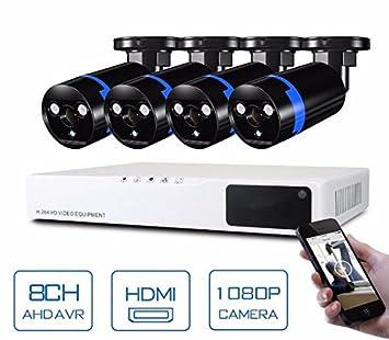 GOWE cámara de seguridad sistema 8 ch sistema CCTV 4 x cámara CCTV 1080P 2.0 MP cámara sistema de vigilancia Kit camaras seguridad hogar: Amazon.es: ...