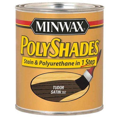 Minwax 21360 1/2 Pint Tudor Polyshades Wood Stain Satin by Minwax