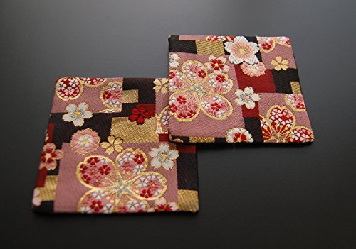 Japanese-style coaster set of 2(Red Cherry)