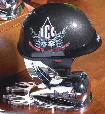 Orange County Choppers Logos (Orange County Choppers BLack 1/2 Scale Replica Helmet with OCC Dice Logo 1/2 Die Cast Collectible by Bike)