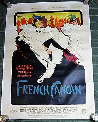 French Cancan Jean Renoir vintage movie poster print