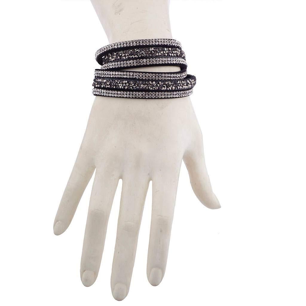 Lux Accessories Women's Studded Fashion Wrap Bracelet B200060-1-B565