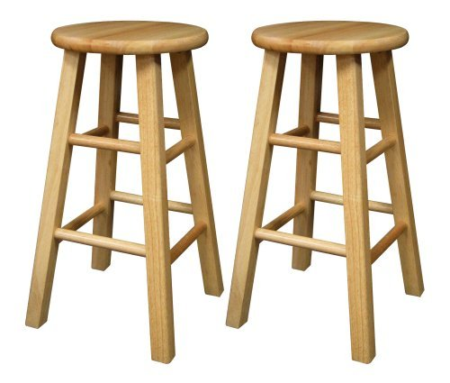 Winsome Wood 83224 Pacey Stool, 24″, Natural