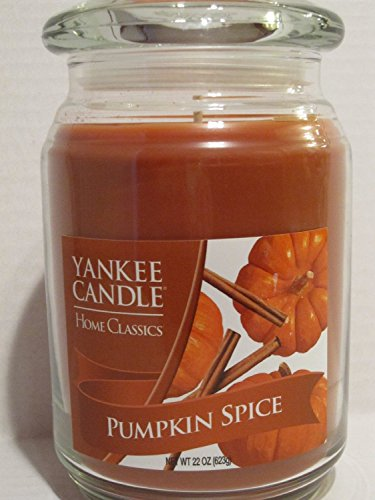 Yankee Candle Large 22oz Jar Scented Candle, Pumpkin Spice