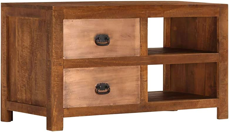 ROMELAREU Tavolino da caff/è in Legno Massello di Acacia 90x50x40 cm Arredamento Tavoli Tavolini Decorativi Tavolini da Salotto