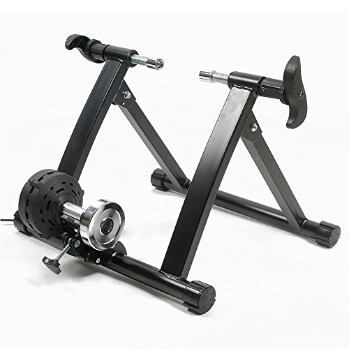 Bike Trainer Stand, Alotm Portable Indoor Exercise Resistance Trainer Stand, Quiet Smooth Pedaling Bicycle Exercise Trainer Stand by A300804
