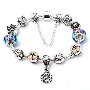 Calli Diamantes de imitación perlas de cristal de flores de cristal pulsera de joyería de las mujeres