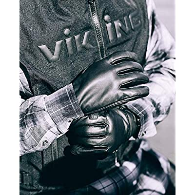 Viking Cycle Premium Heavy Duty Brown Genuine Leather Water-Resistant Touch Screen Motorcycle Riding Gloves For Men (Brown, S): Automotive