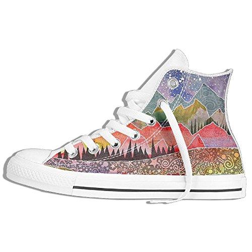 Scarpe Da Ginnastica Sneakers Alte In Tela Di Pizzo Alto, Scarpe Da Ginnastica Sneaker Di Moda Classica