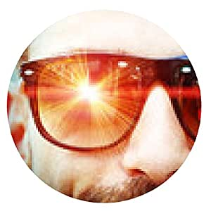 alfombrilla de ratón Láser de los anteojos - ronda - 20cm