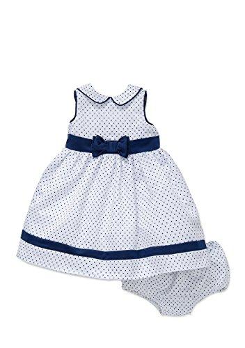 Little Me Navy and White Polka Dot Dress Set - 12 (Navy White Polka Dot Dress)