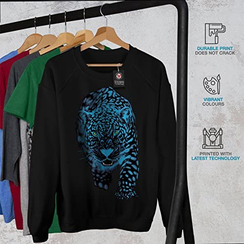 Wellcoda Panther Animal Sneak Mens Sweatshirt Cougar Casual Pullover Jumper