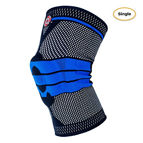 Bone Shape Magnet (Old Bones Therapy Compression Knee Sleeve Support - Knee Brace for Sports, Running, Arthritis, ACL, MCL, Meniscus Tear, Joint Pain Relief and Injury Recovery (S, Black/Blue))