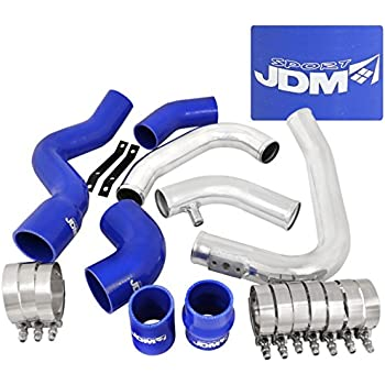 Audi A4 B6 1.8L 20V Turbo Charger Aluminum Intercooler Piping Kit With Blue Couplers Performance Upgrade
