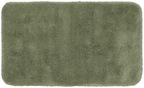 Garland Rug Finest Luxury Ultra Plush Washable Nylon Rug, 30-Inch by 50-Inch, Deep Fern (Ferns Rug Brown)