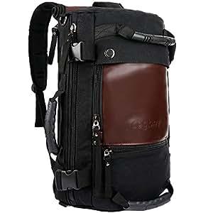 ibagbar Canvas Backpack Travel Bag Hiking Bag Rucksack Duffel Bag Laptop Backpack Computer Bag Camping Bag Sports Bag Weekend Bag Briefcase Bag Messenger Bag Shoulder Bag Black