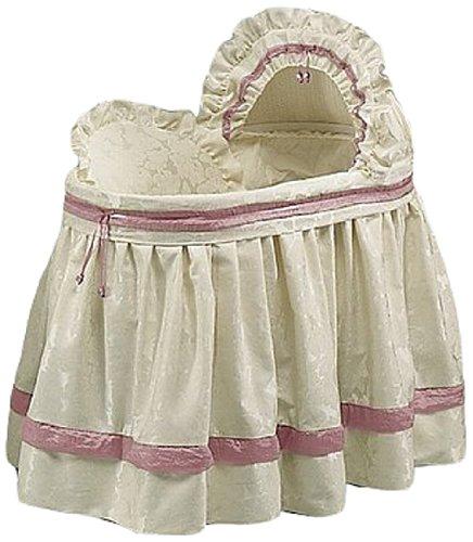 Babydoll Bedding Baby King Brocade Bassinet Bedding Set, Hot Pink by BabyDoll Bedding