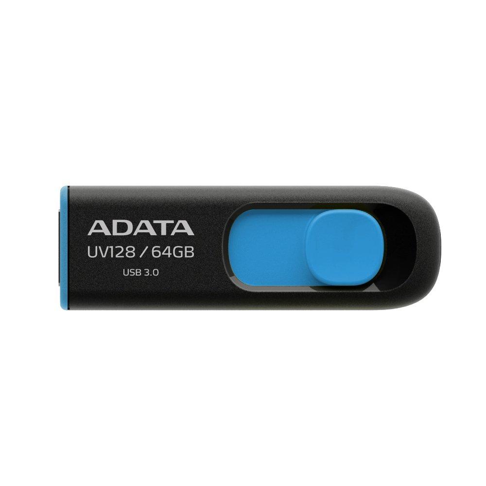 Pendrive ADATA UV128 64GB USB 3.0 Retractable Capless Blue A
