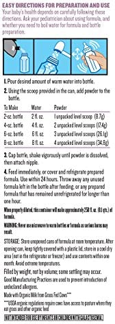 51Lhgn7MaQL. AC - Earth's Best Organic Low Lactose Sensitivity Infant Formula With Iron, Milk-Based Powder, 35oz.