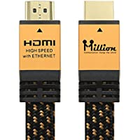 Million High Speed Ultra HDMI Cable 10 Feet (3.1m) with Ethernet - HDMI 2.0 Professional Support 4K 3D 2160P 1440P - Audio Return Channel (ARC),Gold Case