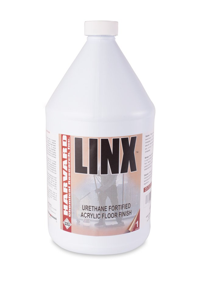 Image of Floor Cleaners Harvard Chemical 3500 Linx 22 Percent Urethane Fortified Acrylic Floor Finish, Slight Ammonia Fragrance, 1 Gallon Bottle (Case of 4)