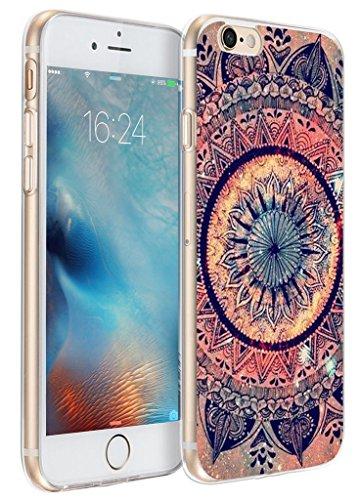 Iphone 6s Plus Case mandala, Apple Iphone 6 Plus Case creative purple shiny mandala flower texture art