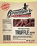 Low Carb Beef Jerky Snacks: 3 Pack of White Truffle Meat Strips – Grandpa's Beef Jerky Review