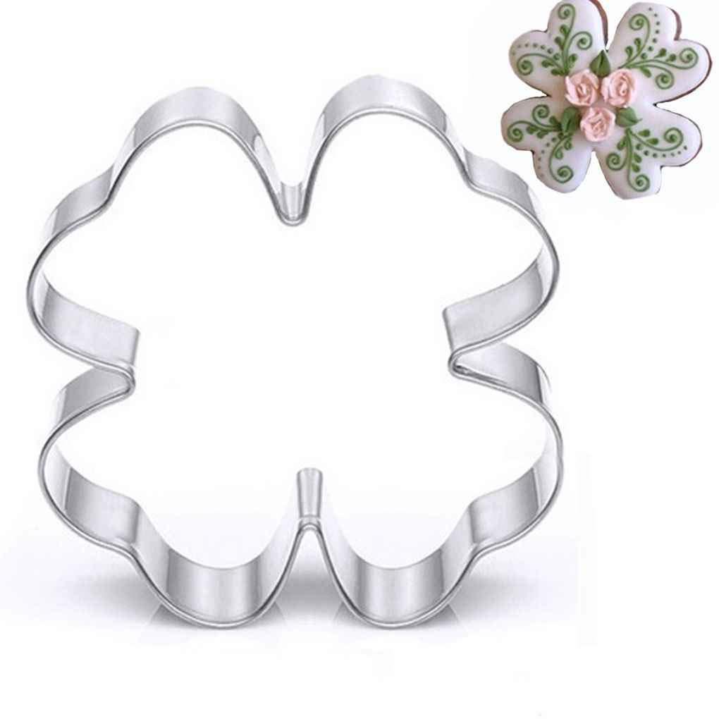 MUANI Klee-Form-Biskuit-Form-Kuchen-Form Edelstahl Cutter-Kuchen-Kuchen-Backen-Werkzeug