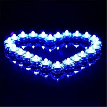Waterproof Submersible LED Tea Light Electronic Candle For Wedding Party Valentine Decoration Set of 12(Blue)