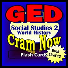 GED Prep Test WORLD HISTORY - SOCIAL STUDIES II Flash Cards-CRAM NOW!-GED Exam Review Book & Study Guide (GED Cram Now! 13)