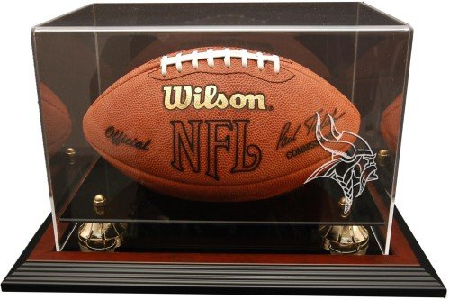 Minnesota Vikings Zenith Football Display - Mahogany