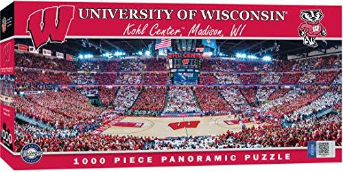 MasterPieces Collegiate Wisconsin Badgers 1000 Piece Stadium (Basketball) Panoramic Jigsaw Puzzle -