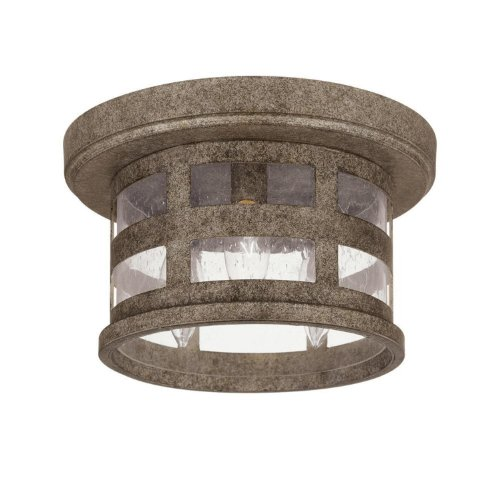 - Capital Lighting 9956CS Mission Hills 3-Light Outdoor Ceiling Fixture Creek Stone with Seeded Glass