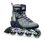 Rollerblade Macroblade 84W Alu 2016 Fitness/Workout Skate, Black/Purple, US Size 8 by Rollerblade