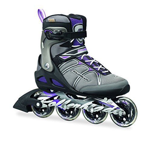 Rollerblade Macroblade 84W Alu 2016 Fitness/Workout Skate, Black/Purple, US Size 8 by Rollerblade