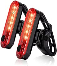 USB Rechargeable LED Bike Tail Light 2 Pack, Bright Bicycle Rear Cycling Safety Flashlight