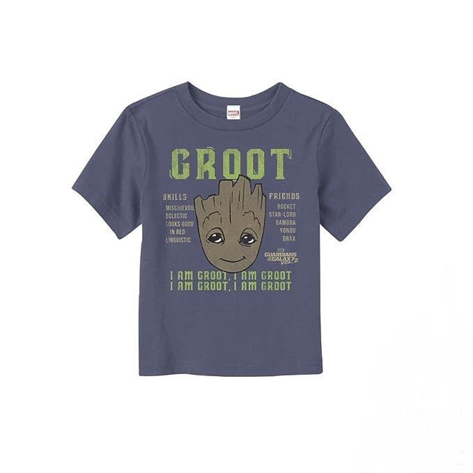d6388d186efd Marvel Toddler's Guardians of the Galaxy Vol. 2 Groot Skills Navy Blue T- Shirt