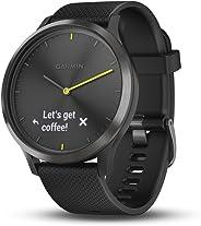 Garmin vívomove HR, Smartwatch híbrido para homens e mulheres, ouro rosa com pulseira de camurça cinza