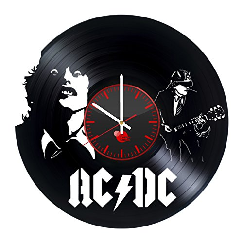 ACDC Back in Black Vinyl Record Wall Clock - Get unique kitc
