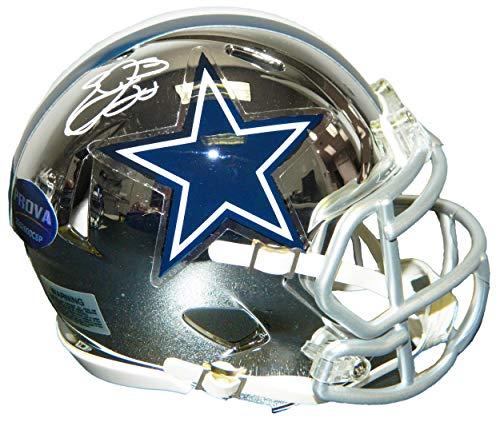 Emmitt Smith Signed Mini Helmet - Chrome Riddell Speed - Autographed NFL Mini Helmets ()