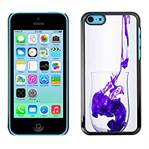 Soft Silicone Rubber Case Hard Cover Protective Accessory Compatible with Apple iPhone? 5C - minimalist clean purple design