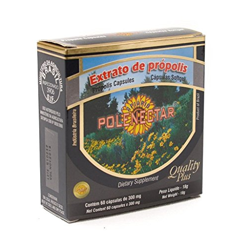 Case With 16 Boxes Of Brazilian Green Bee Propolis Extract Apiario Polenectar Concentrated Softgel 300 mg Capsules By JLBrazil by Apiario Polenectar