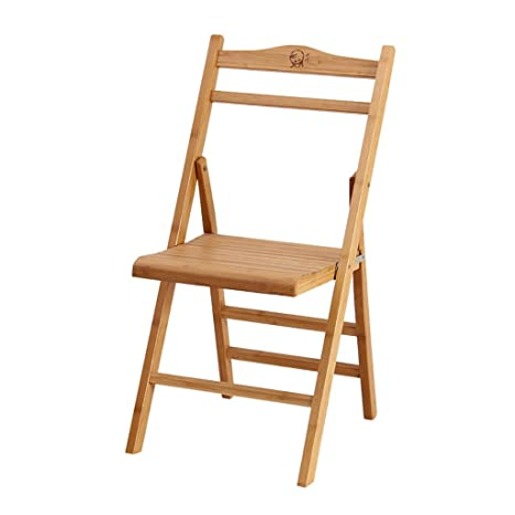 silla plegable Silla plegable de madera maciza Silla ...