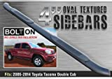 """TAC 2005-2016 TOYOTA TACOMA DOUBLE CAB 4"""" OVAL BLACK Side Step Nerf Bar Running Board"""