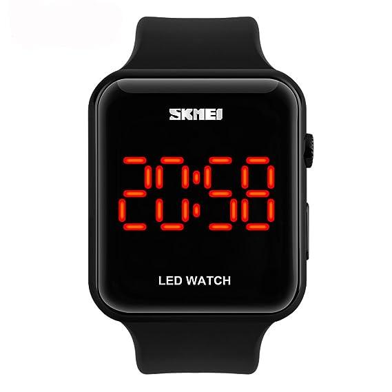 Reloj digital deportivo de Amstt, sumergible 30 m, luz led, diseño