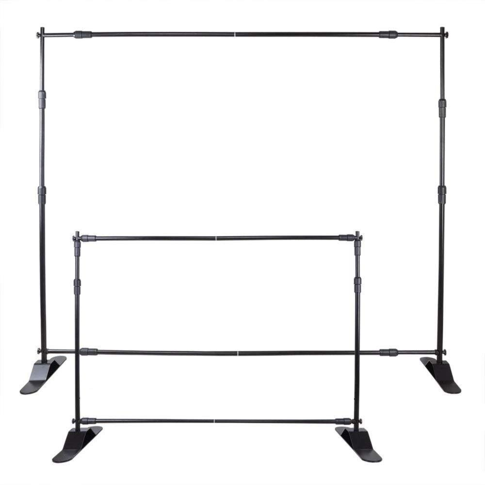 Smarketbuy 10 Ft Backdrop Banner Stand Portable Lightweight Step and Repeat Stand Adjustable Banner Stand (10 Ft)