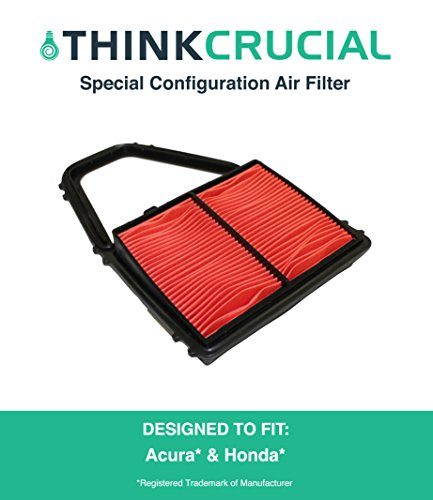 Premium Special Configuration Air Filter Fits Acura EL Canada, Honda Civic, Maximum Air Flow, 6.88 x 3.13 x 5.42 in., Part # A35397 & CA8911, by Think Crucial