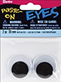 Darice Paste On Wiggle Eyes 30mm Black (8 Pack)